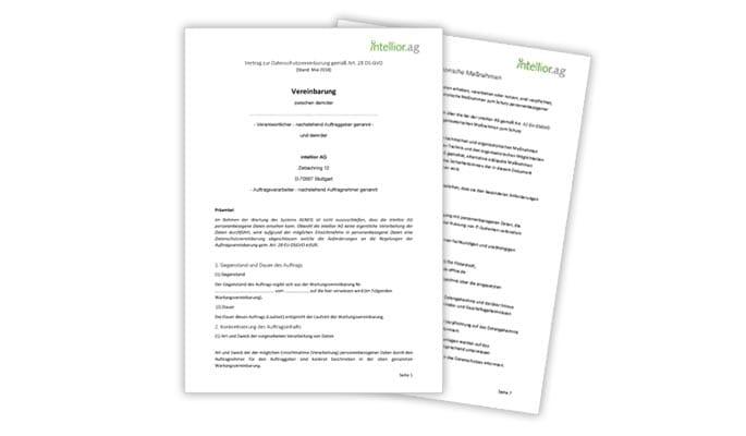Vereinbarung zur Auftragsdatenverarbeitung