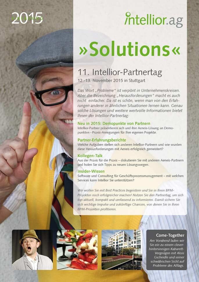 Titelseite der Einladung zum Intellior-Partnertag 2015