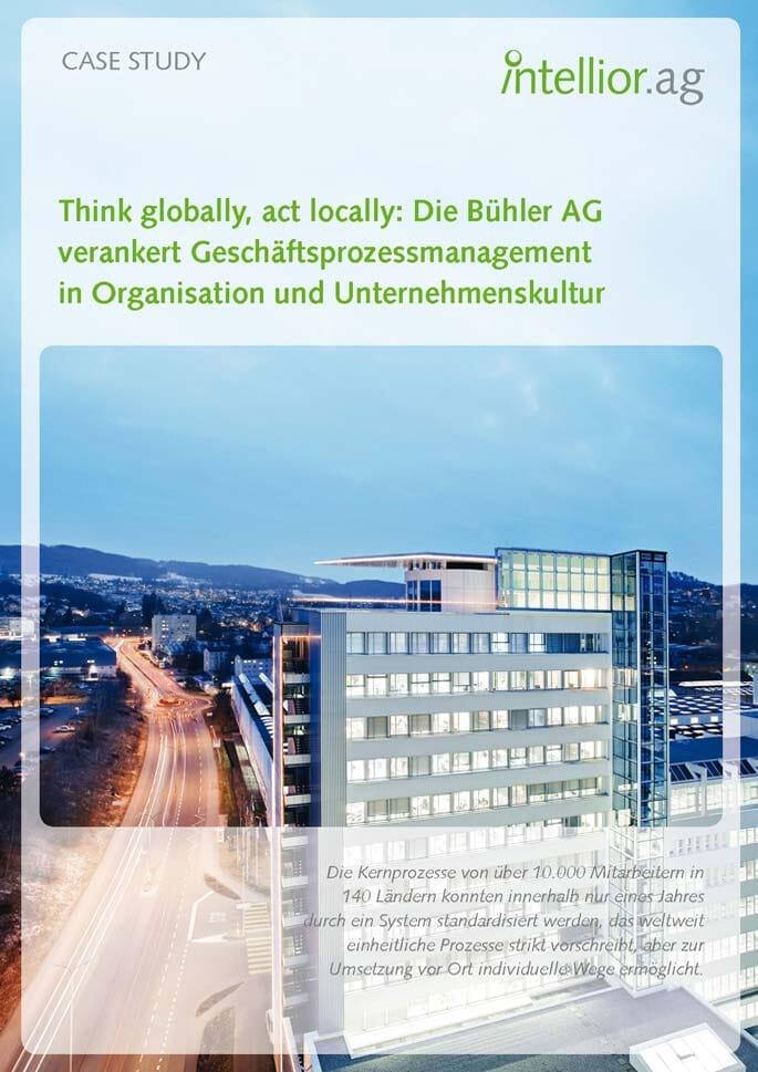 Titelseite der Intellior Case Study zur Bühler AG
