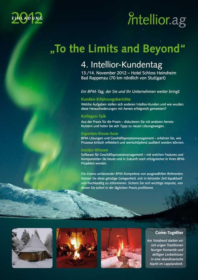 Titelseite der Einladung zum Intellior-Kundentag 2012
