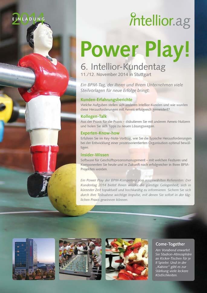 Titelseite der Einladzung zum Intellior-Kundentag 2014