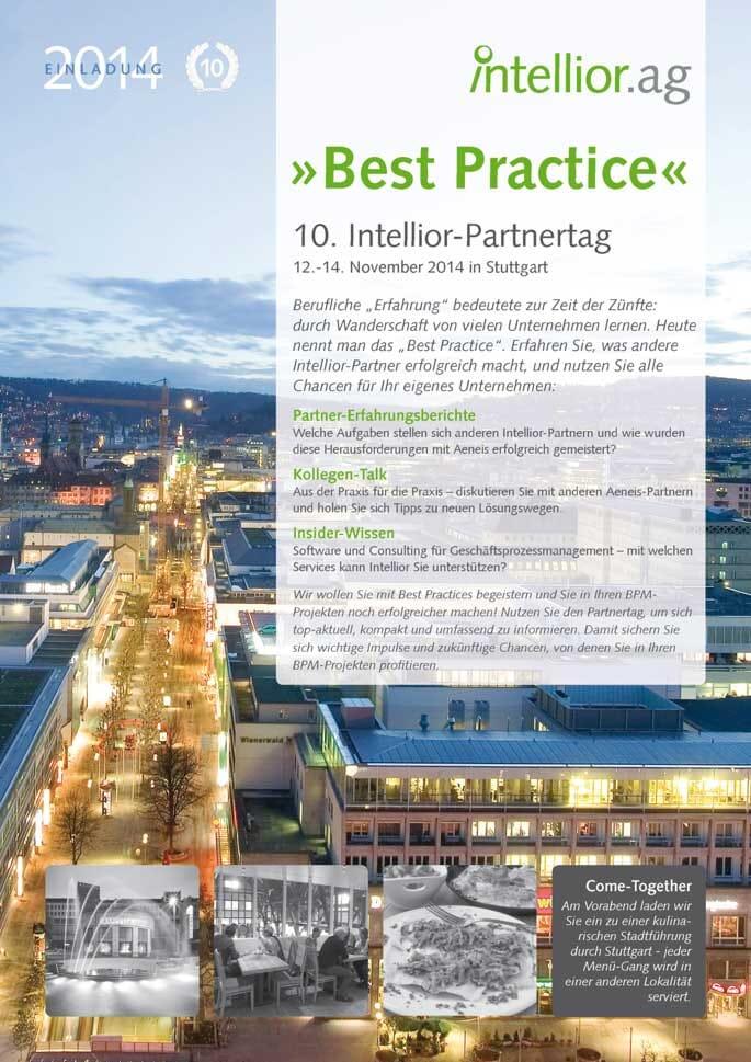 Titelseite der Einladung zum Intellior-Partnertag 2014