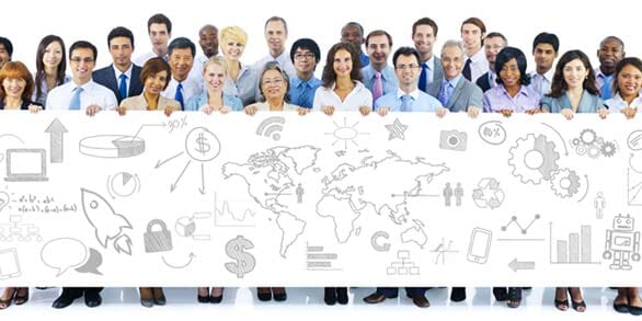 Mitarbeiter mit Workflow-Chart